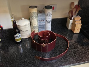 My Dorchester belt. Amazing leather work by Ade Wink.